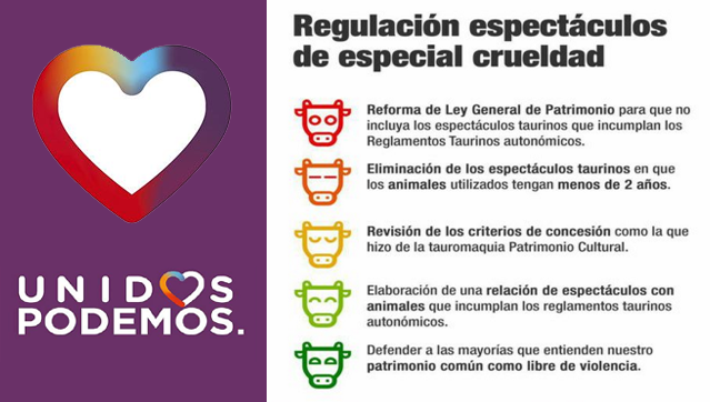 Podemos exige eliminar festejos taurinos de especial crueldad