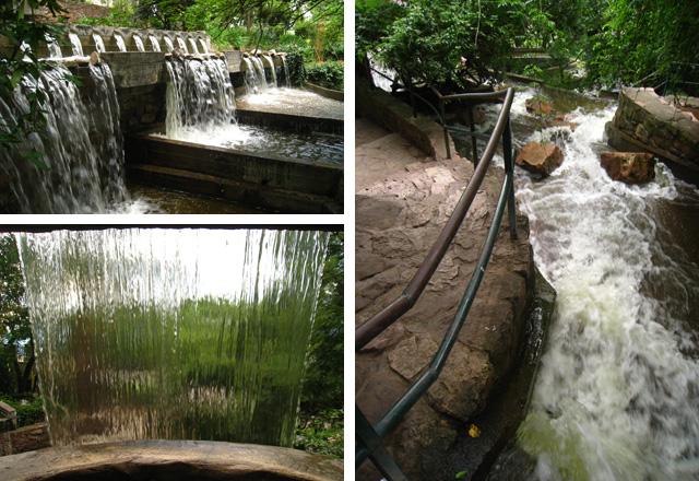 Cascada artificial en el Cerro San Bernardo