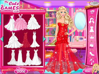 Barbie Princess Wedding Dress Up
