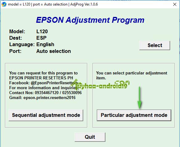 RESETER EPSON L120