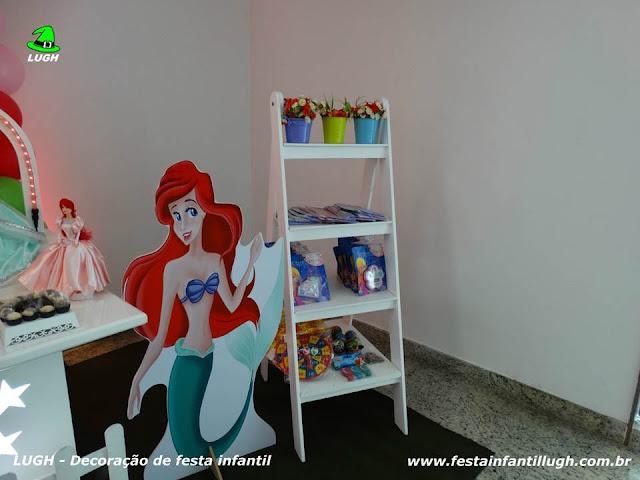 Decoração tema Ariel. provençal infantil para festa de meninas