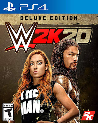 Wwe 2k20 Game Cover Ps4 Deluxe Edition