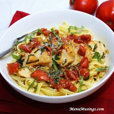 Tomato Basil Chicken @ menumusings.com
