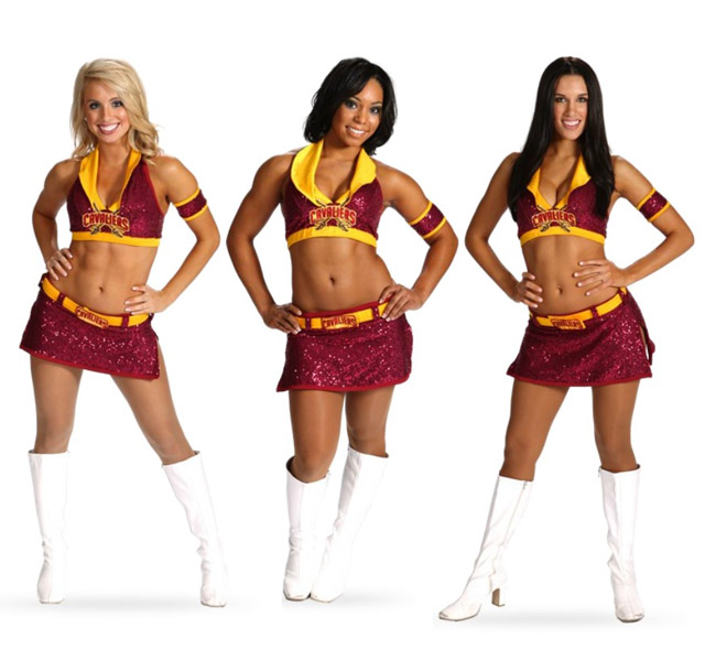 competitive price 1f21c 10a5f The Cleveland Cavaliers  Cheerleaders have some nice white boots