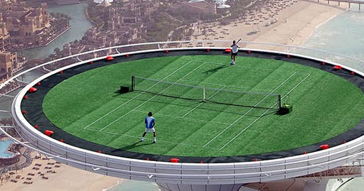 King Raah S Labyrinth World S Highest Tennis Court On Top Of The World S Most Luxurious Hotel