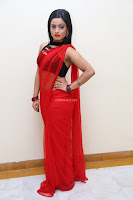 Aasma Syed in Red Saree Sleeveless Black Choli Spicy Pics ~  Exclusive Celebrities Galleries 047.jpg