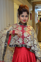 Anya South Actress model in Red Anarkali Dress at Splurge   Divalicious curtain raiser ~ Exclusive Celebrities Galleries 026.JPG