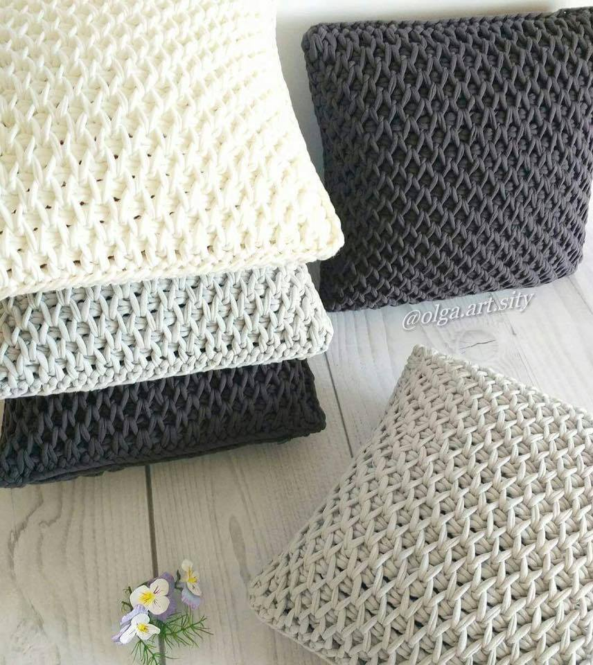 Cómo tejer el punto panal de abeja en crochet tunecino / Tutorial ...