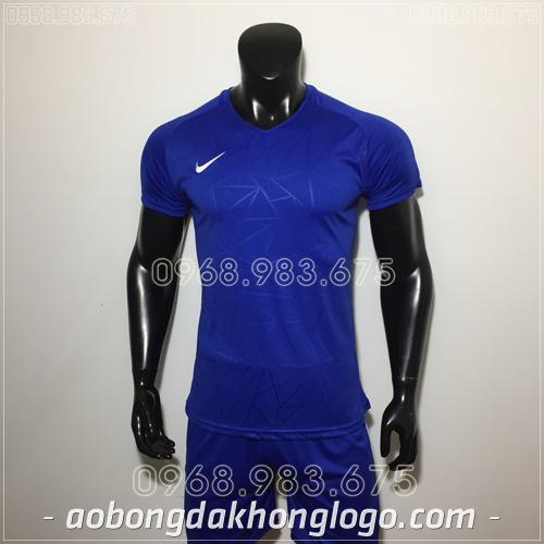 Áo bóng đá không logo Nike HHP Pro màu xanh đậm