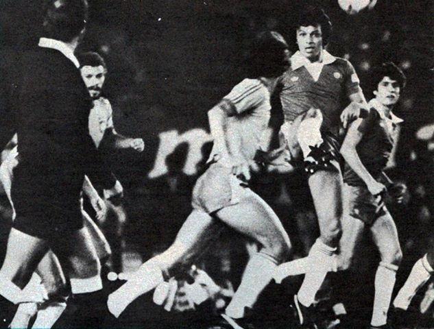 Brasil y Chile en partido amistoso, 24 de junio de 1980