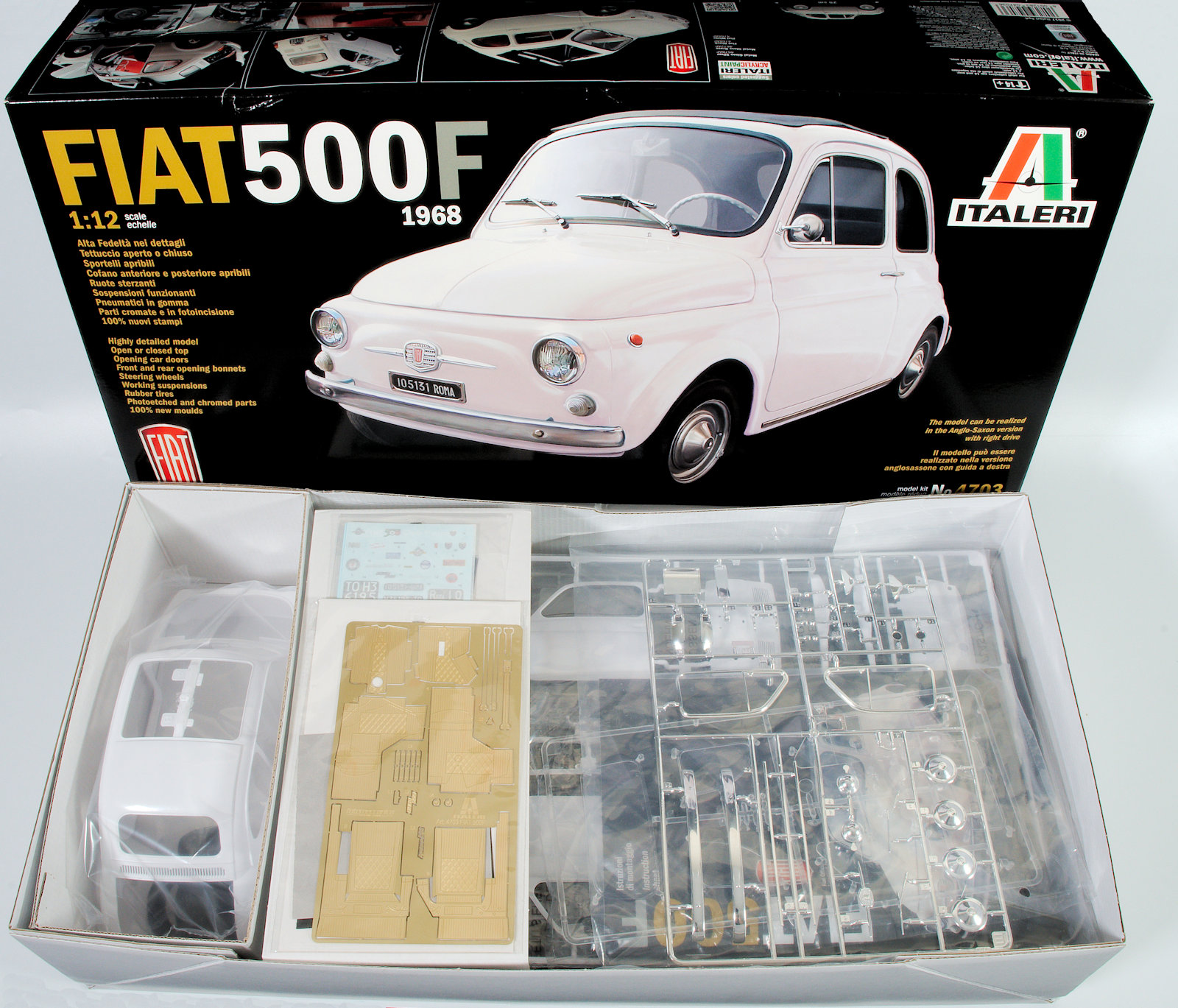 The Modelling News In Boxed 1 12th Scale Fiat 500f From Italeri Models