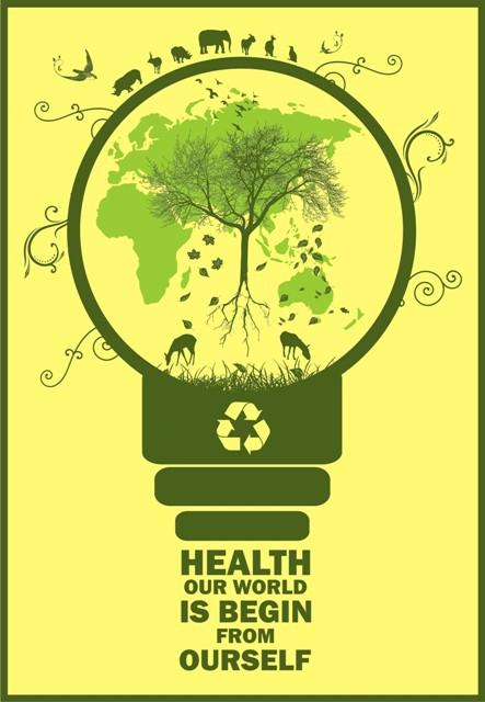 15 Contoh Gambar Desain Poster Lingkungan Go Green Alul Stemaku