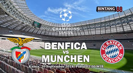 Prediksi Benfica vs Bayern Munchen 20 September 2018