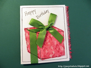 Paper Guided Stitched Cards