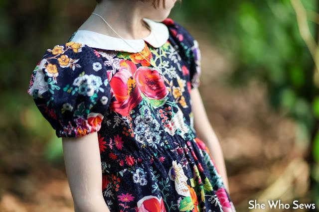 Dark floral vintage dress