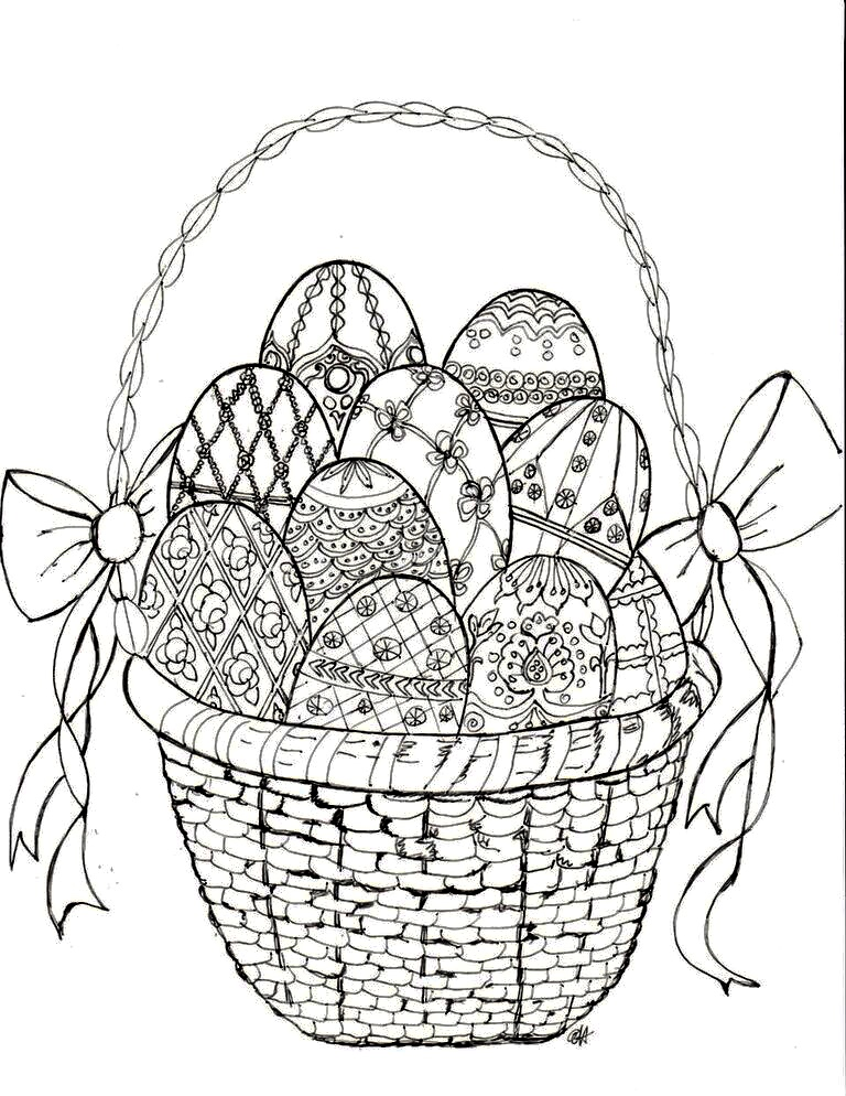Make It Easy Crafts Easter Faberge Egg Coloring Page