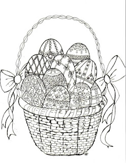 Easter Faberge Egg Coloring Page