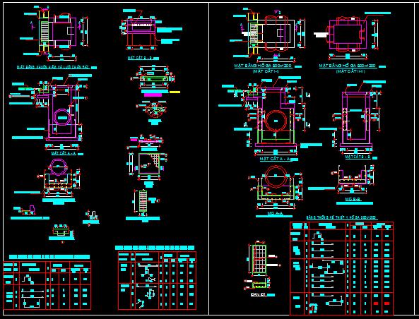 Bản vẽ chi tiết hầm ga thoát nước nhà máy