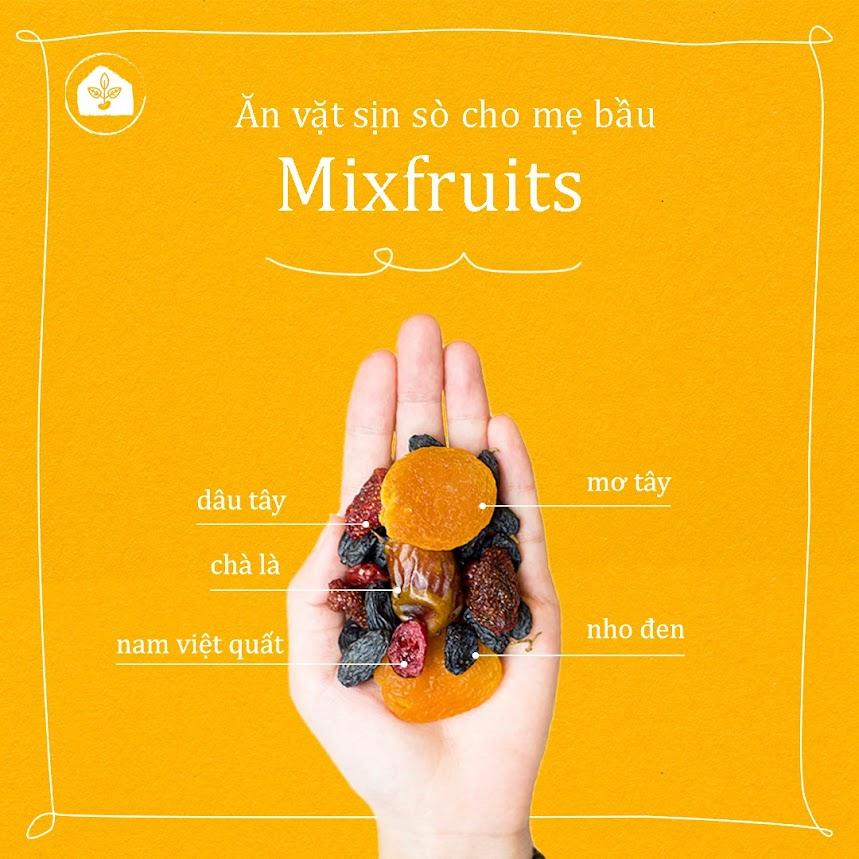 Mixfruits ăn vặt bữa phụ tốt cho Mẹ Bầu và thai nhi