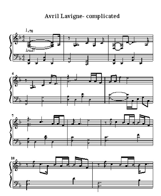 Avril Lavigne Partitura