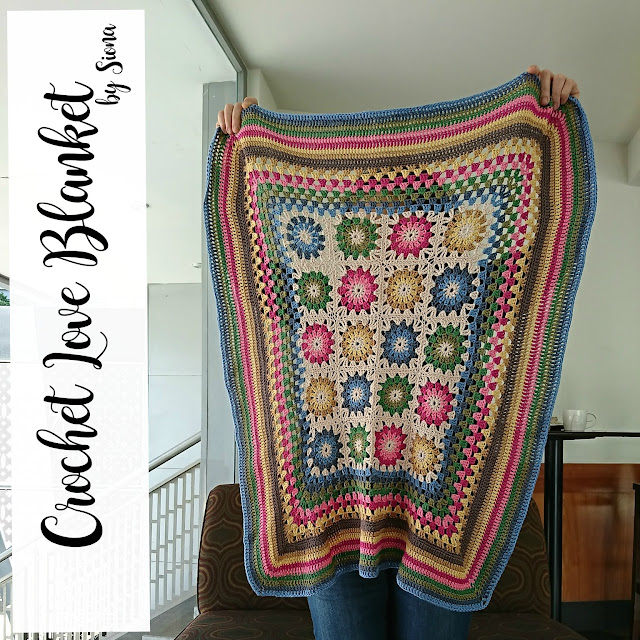072.- Patrón love baby blanket