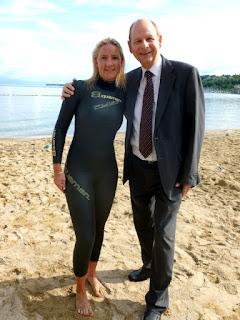 Céline Amaudruz prend la pose avec Pierre Scherb