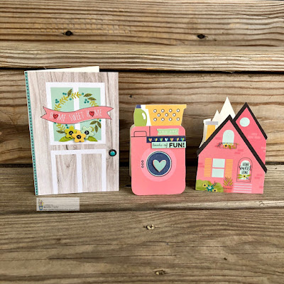 Trio of S.S. Domestic Bliss Shaped Cards