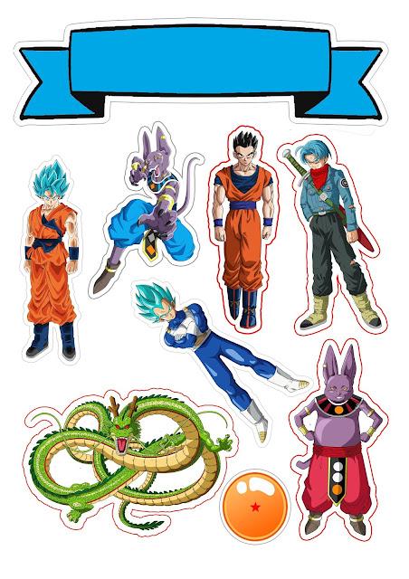 Dragon Ball Z: Toppers para Tartas, Tortas, Pasteles, Bizcochos o Cakes para Imprimir Gratis.