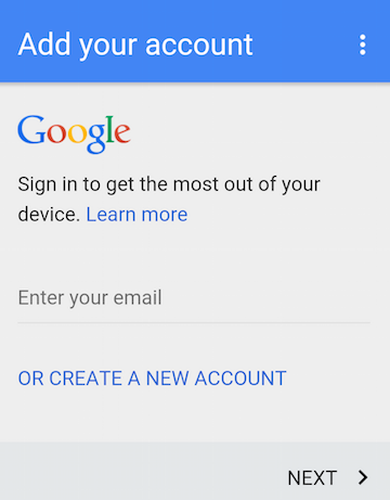 New Google Account Switcher in Chrome for Android
