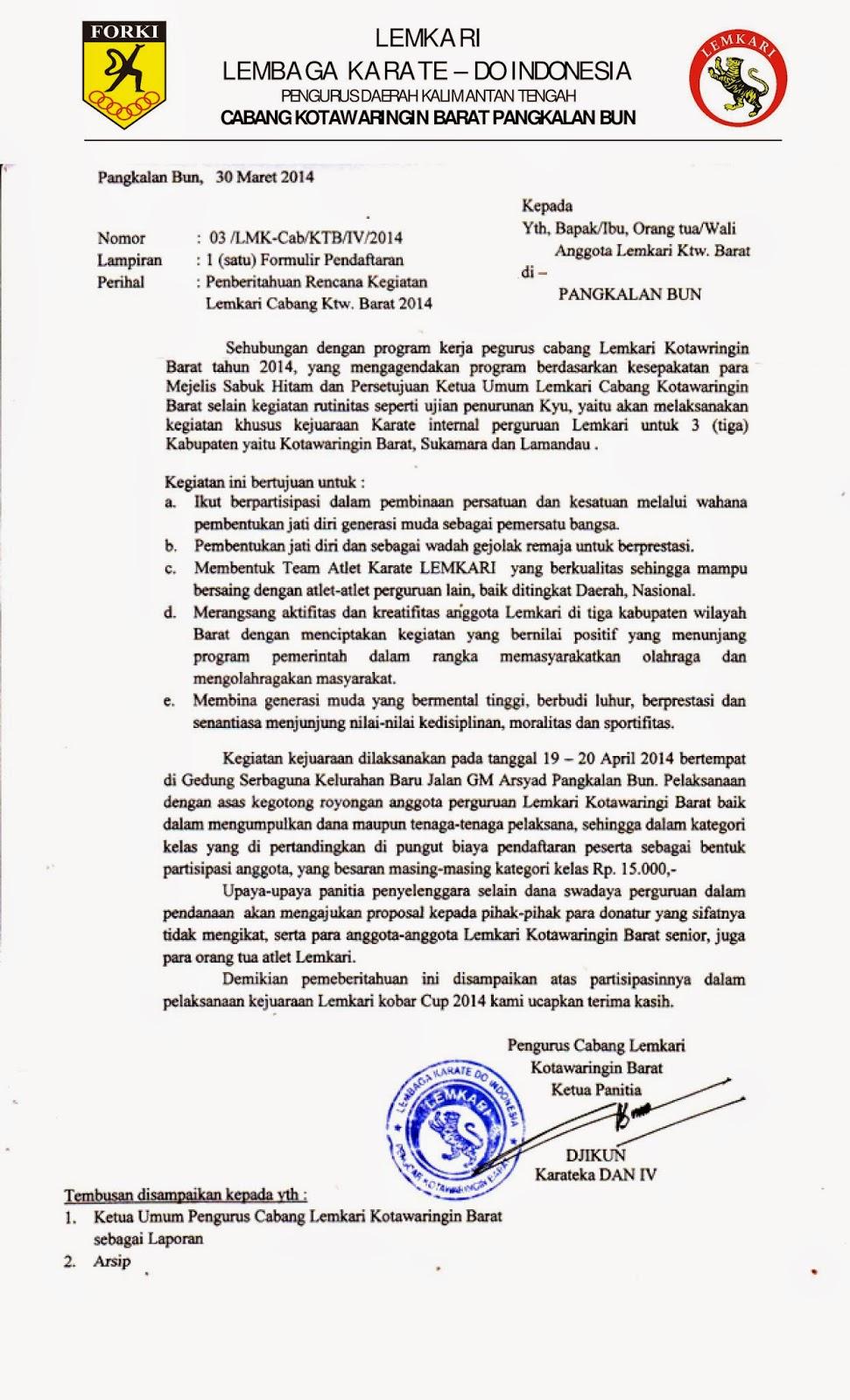 Lemkari Kotawaringin Barat Maret 2014