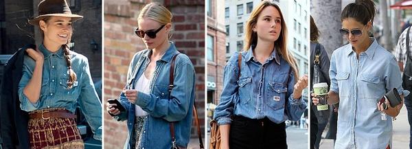 modèles chemise en jeans