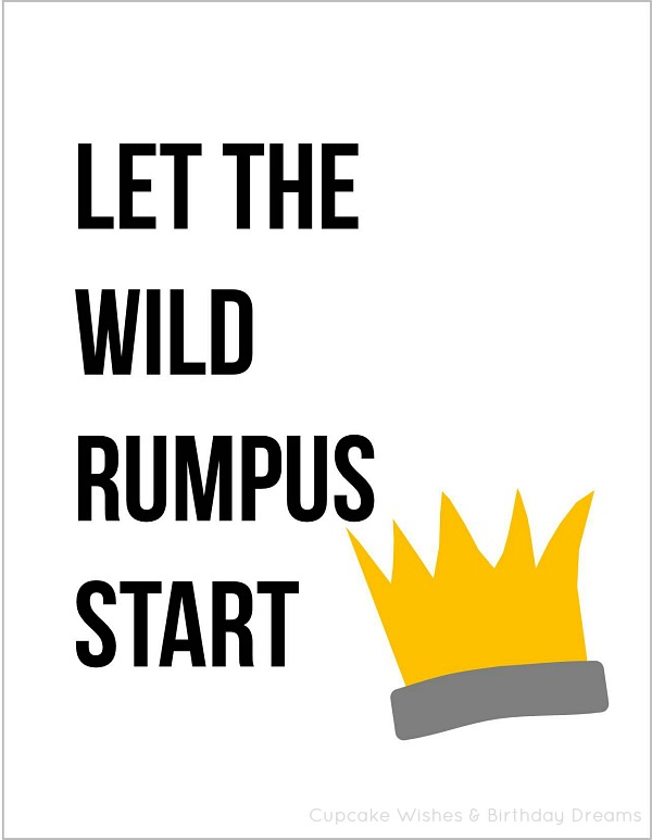 image regarding Let the Wild Rumpus Start Printable identify livelovelaugh: Make it possible for The Wild Rumpus Get started!