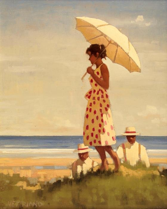 Jack  Vettriano  Girl  and  parasol