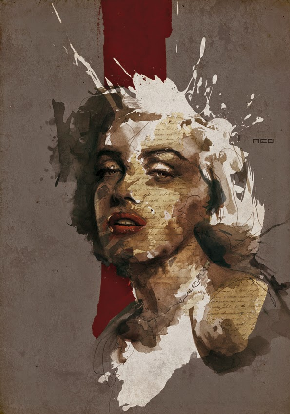 23-Marilyn-Monroe-Florian-Nicolle-neo-Portrait-Paintings-focused-on-Expressions-www-designstack-co