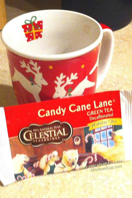 Celestial Seasonings Candy Cane Lane Green Tea Taste Test | A Relaxed Gal