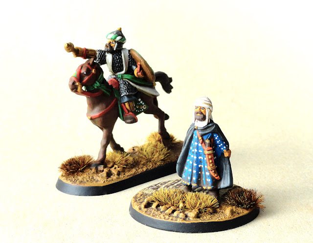 Moorish Warlord and Imam for Saga Crescent and Cross
