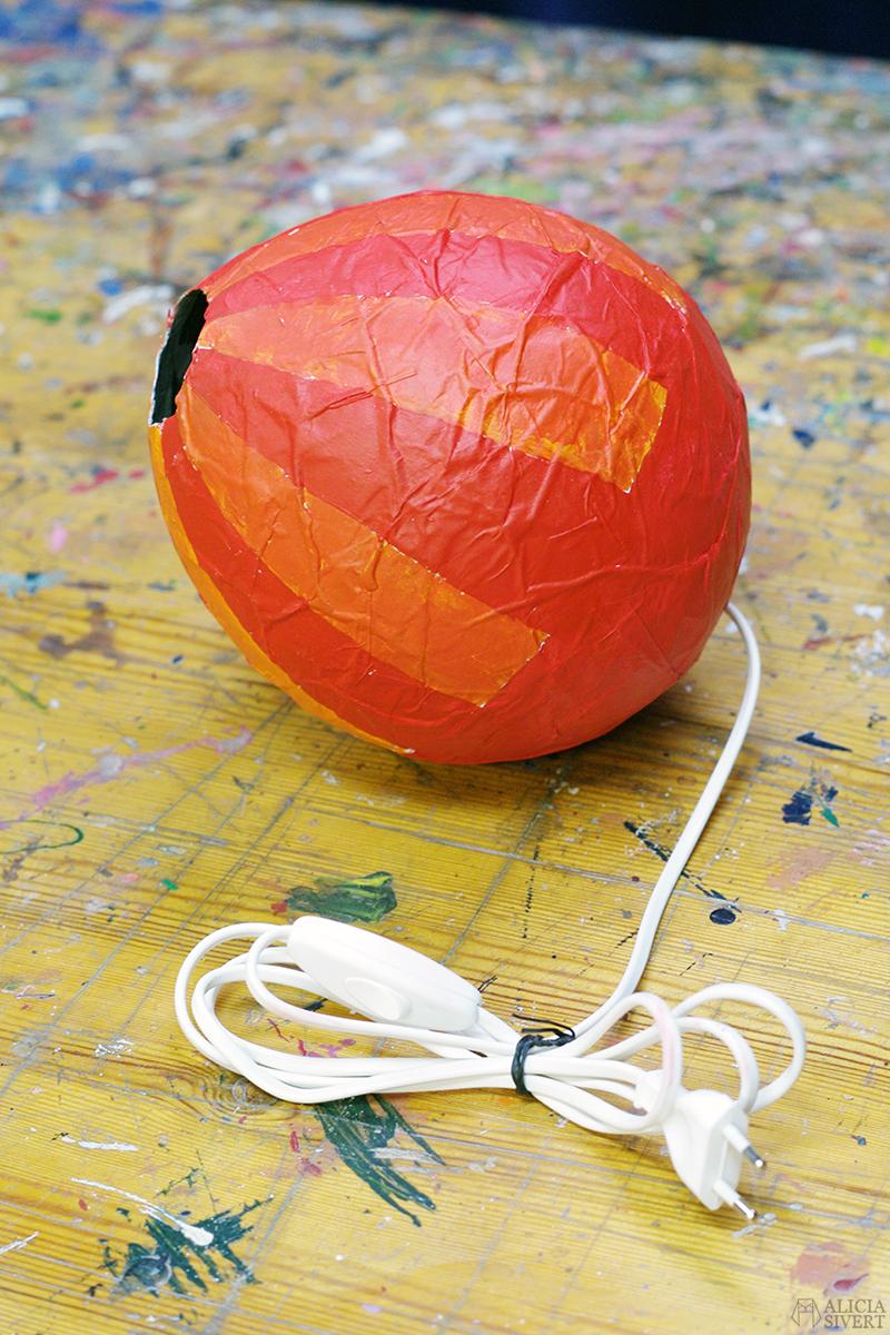 aliciasivert alicia sivert sivertsson papier mache pappersremsor tapetklister bild och form luftballong