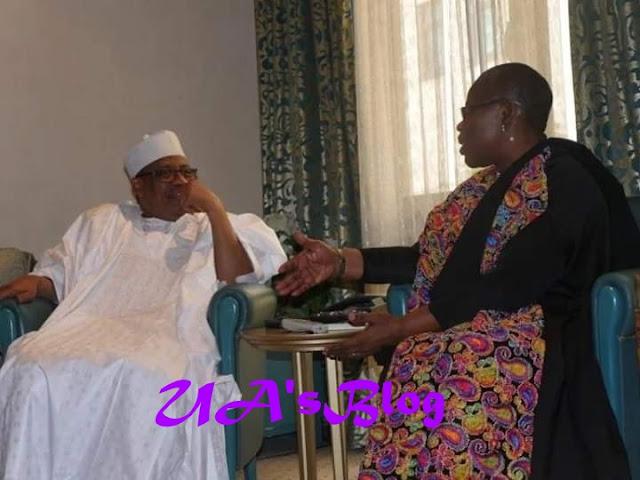 2019 Election: Ezekwesili meets Babangida (PHOTO)