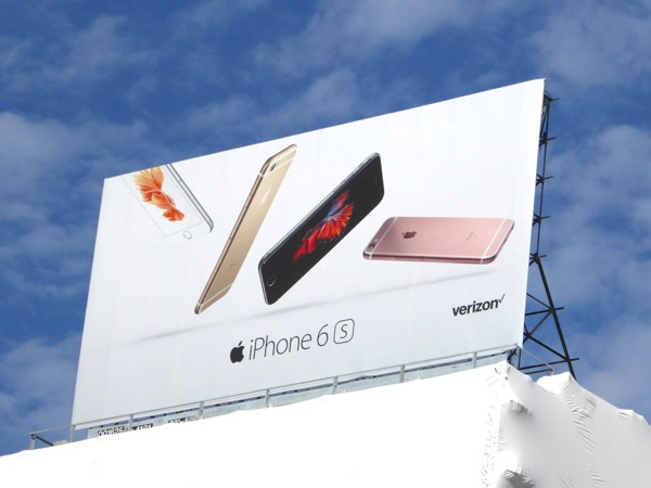 Apple iPhone 6s launch billboard San Francisco