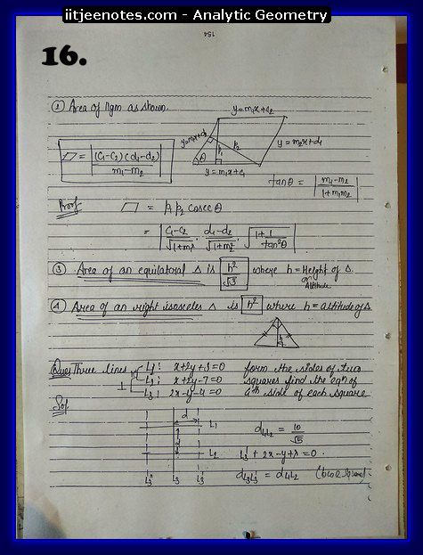 analytic geometry notes4