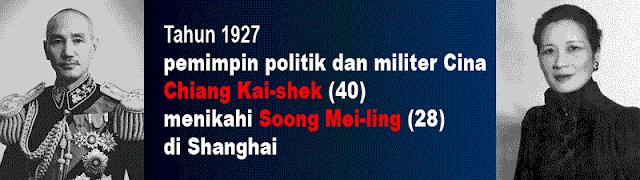 Foto Chiang Kai-shek dan Soong Mei-ling