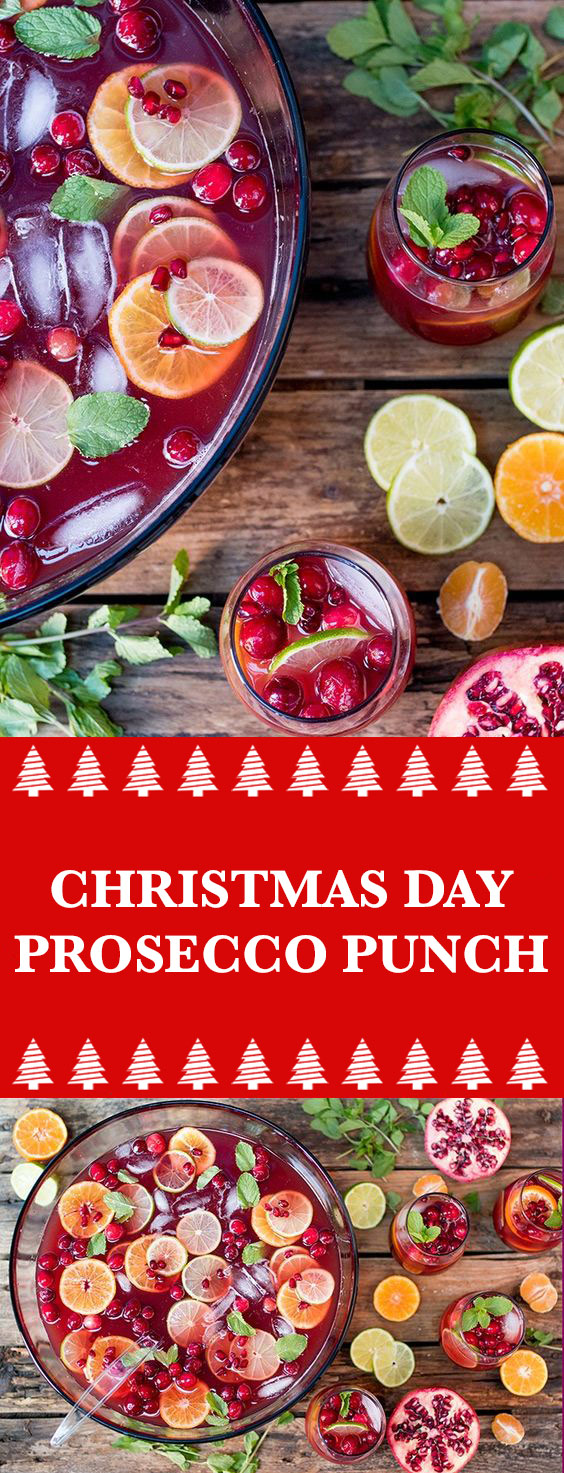 Christmas Day Prosecco Punch