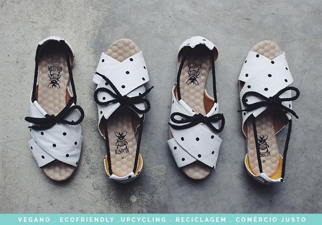 23909b9e2 Insecta Shoes A Insecta, que a gente já falou aqui, é uma marca feita por  mulheres usando o conceito do upcycling, ou seja, ressignificando roupas de  brechó ...