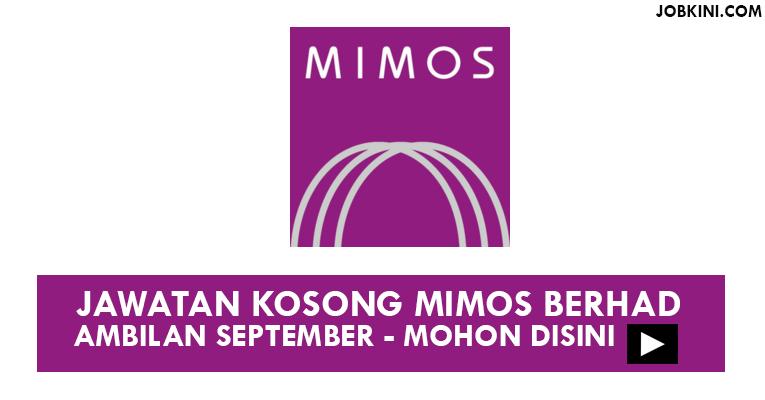 Jawatan Kosong Terkini di Mimos Berhad
