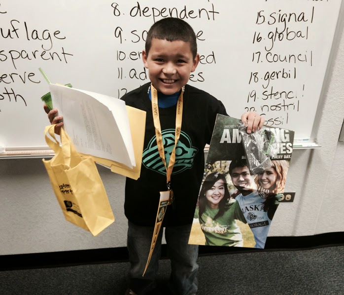 Fifth grader Angel Nunez is already thinking about attending UAA to study welding.