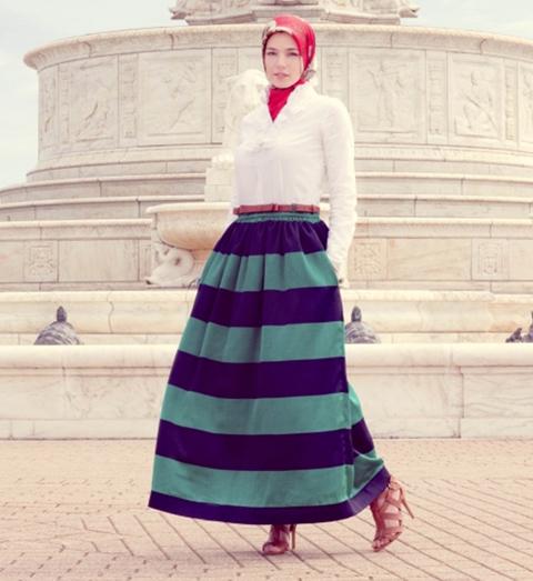 model baju vintage hijab