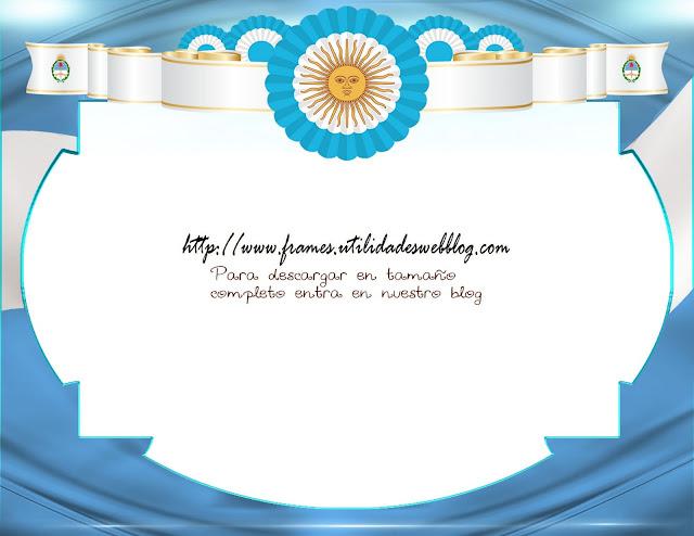 bandera, escarapela y escudo argentina marco para fotos