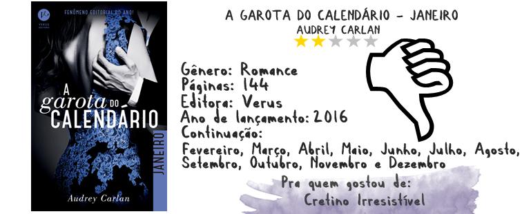 RESENHA: A Garota do Calendário (Janeiro) - Audrey Carlan