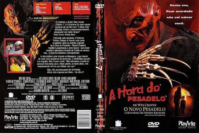 Capa DVD A Hora do Pesadelo 7 O Novo Pesadelo O Retorno de Freddy Krueger