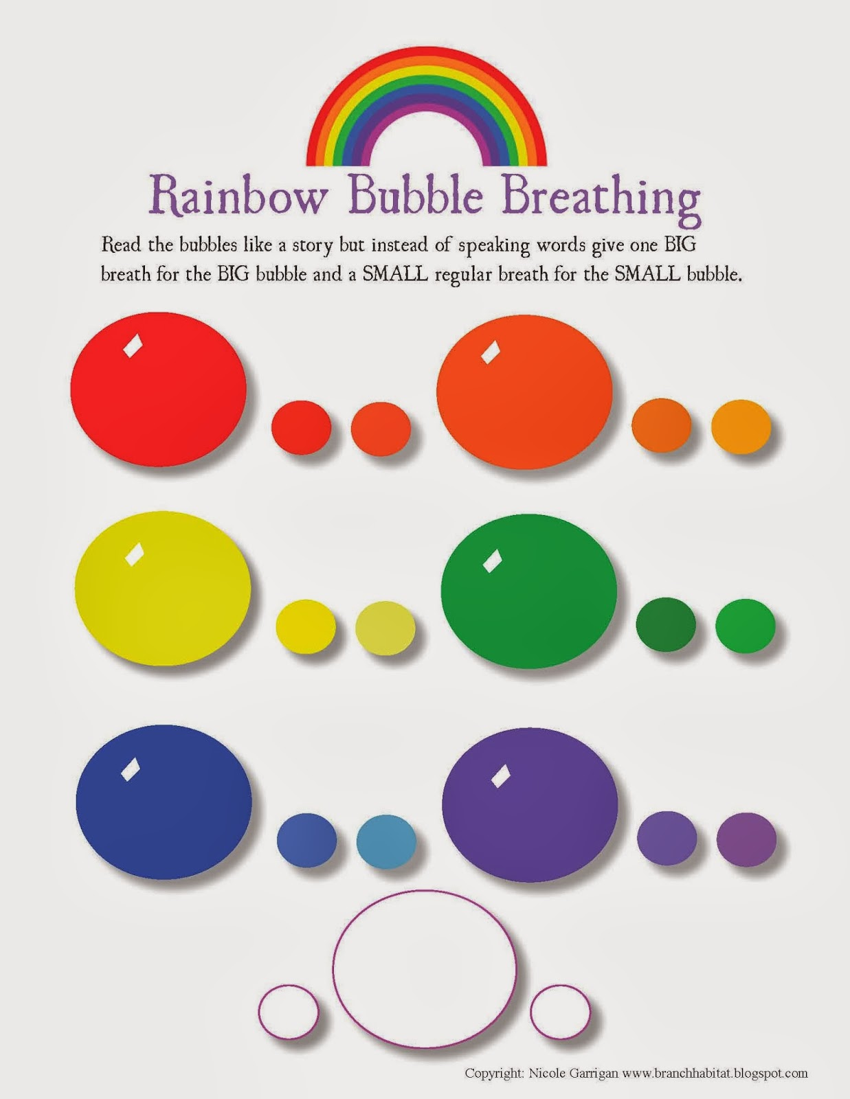 Branch Habitat Rainbow Breathing Exercise And Worksheet